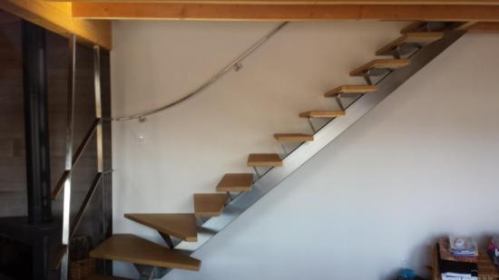 escalier et rampe en inox