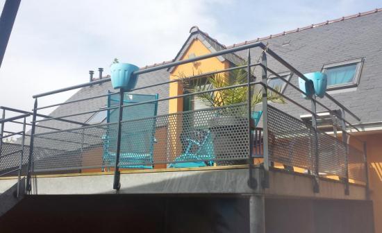 terrasse sur élevée