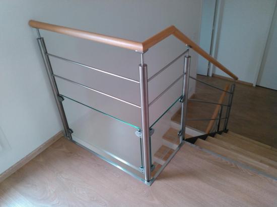 rampe inox lisse bois