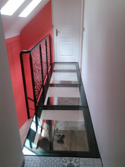 escalier débillardé
