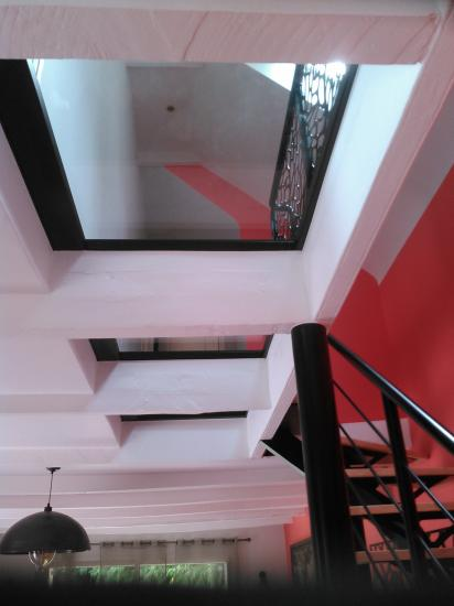 plancher de verre en rénovation