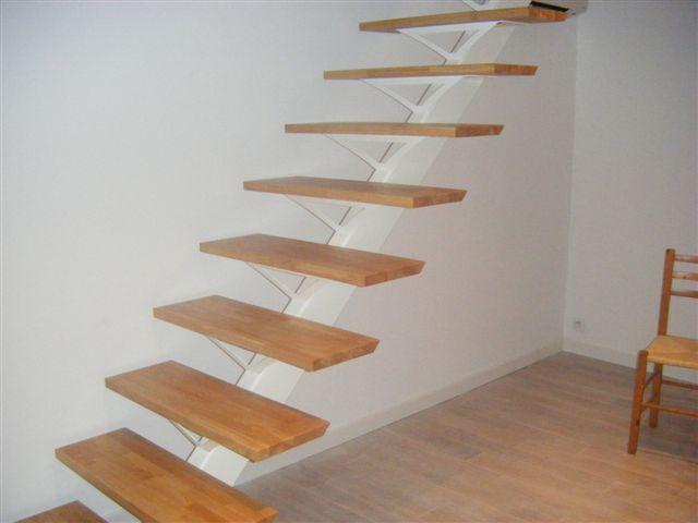 Escalier - Escalier droit acier ...